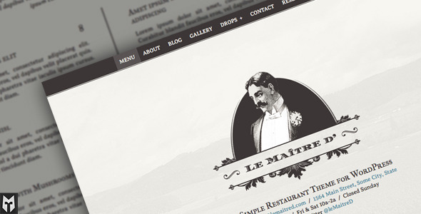 Le Maitre d': Super Simple Restaurant WordPress Theme