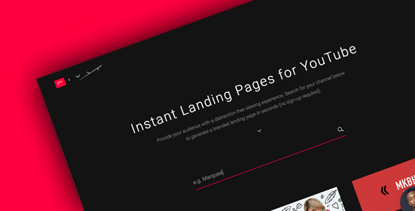 RIVYT: Instant Landing Pages for YouTube